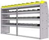 "25-8848-4 Profiled back bin separator combo Shelf unit 84""Wide x 18.5""Deep x 48""High with 4 shelves"