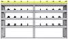 "25-8848-4 Profiled back bin separator combo Shelf unit 84""Wide x 18.5""Deep x 48""High with 4 shelves"
