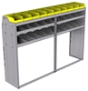 "25-8858-3 Profiled back bin separator combo Shelf unit 84""Wide x 18.5""Deep x 58""High with 3 shelves"