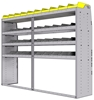 "25-8863-4 Profiled back bin separator combo Shelf unit 84""Wide x 18.5""Deep x 63""High with 4 shelves"