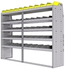 "25-8863-5 Profiled back bin separator combo Shelf unit 84""Wide x 18.5""Deep x 63""High with 5 shelves"