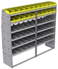 "25-8872-6 Profiled back bin separator combo Shelf unit 84""Wide x 18.5""Deep x 72""High with 6 shelves"