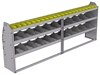 "25-9336-3 Profiled back bin separator combo Shelf unit 94""Wide x 13.5""Deep x 36""High with 3 shelves"