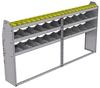"25-9348-3 Profiled back bin separator combo Shelf unit 94""Wide x 13.5""Deep x 48""High with 3 shelves"