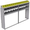 "25-9358-3 Profiled back bin separator combo Shelf unit 94""Wide x 13.5""Deep x 58""High with 3 shelves"