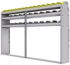 "25-9358-3 Profiled back bin separator combo Shelf unit 94""Wide x 13.5""Deep x 58""High with 3 shelves"