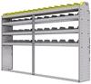 "25-9358-4 Profiled back bin separator combo Shelf unit 94""Wide x 13.5""Deep x 58""High with 4 shelves"