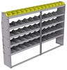 "25-9363-5 Profiled back bin separator combo Shelf unit 94""Wide x 13.5""Deep x 63""High with 5 shelves"
