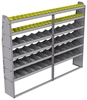 "25-9372-6 Profiled back bin separator combo Shelf unit 94""Wide x 13.5""Deep x 72""High with 6 shelves"