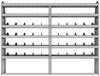 "25-9372-6 Profiled back bin separator combo Shelf unit 94""Wide x 13.5""Deep x 72""High with 6 shelves"