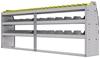 "25-9536-3 Profiled back bin separator combo Shelf unit 94""Wide x 15.5""Deep x 36""High with 3 shelves"