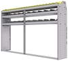 "25-9558-3 Profiled back bin separator combo Shelf unit 94""Wide x 15.5""Deep x 58""High with 3 shelves"