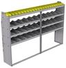 "25-9563-4 Profiled back bin separator combo Shelf unit 94""Wide x 15.5""Deep x 63""High with 4 shelves"