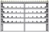 "25-9563-5 Profiled back bin separator combo Shelf unit 94""Wide x 15.5""Deep x 63""High with 5 shelves"
