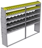 "25-9572-5 Profiled back bin separator combo Shelf unit 94""Wide x 15.5""Deep x 72""High with 5 shelves"