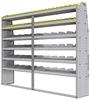"25-9572-6 Profiled back bin separator combo Shelf unit 94""Wide x 15.5""Deep x 72""High with 6 shelves"