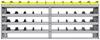 "25-9836-4 Profiled back bin separator combo Shelf unit 94""Wide x 18.5""Deep x 36""High with 4 shelves"