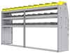 "25-9848-3 Profiled back bin separator combo Shelf unit 94""Wide x 18.5""Deep x 48""High with 3 shelves"