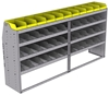 "25-9848-4 Profiled back bin separator combo Shelf unit 94""Wide x 18.5""Deep x 48""High with 4 shelves"