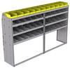 "25-9858-4 Profiled back bin separator combo Shelf unit 94""Wide x 18.5""Deep x 58""High with 4 shelves"