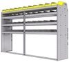 "25-9858-4 Profiled back bin separator combo Shelf unit 94""Wide x 18.5""Deep x 58""High with 4 shelves"