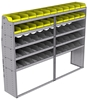 "25-9872-5 Profiled back bin separator combo Shelf unit 94""Wide x 18.5""Deep x 72""High with 5 shelves"