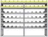 "25-9872-6 Profiled back bin separator combo Shelf unit 94""Wide x 18.5""Deep x 72""High with 6 shelves"