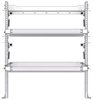 "26-4048-20 2 level fold-up shelving unit, 41""Wide x 18""Deep x 48""High"
