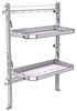 "26-4058-20 2 level fold-up shelving unit, 41""Wide x 18""Deep x 58""High"