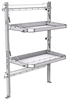 "26-4063-02 2 level fold-up shelving unit, 41""Wide x 21""Deep x 63""High"