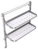 "26-5058-20 2 level fold-up shelving unit, 53""Wide x 18""Deep x 58""High"