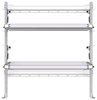 "26-5058-20 2 level fold-up shelving unit, 53""Wide x 18""Deep x 58""High"