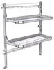 "26-5063-02 2 level fold-up shelving unit, 53""Wide x 21""Deep x 63""High"