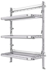 "26-5072-03 3 level fold-up shelving unit, 53""Wide x 21""Deep x 72""High"