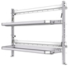 "26-6048-20 2 level fold-up shelving unit, 63""Wide x 18""Deep x 48""High"