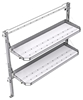 "26-6058-20 2 level fold-up shelving unit, 63""Wide x 18""Deep x 58""High"