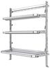 "26-6072-21 Combo 3 level fold-up shelving unit, 63""Wide x 21""Deep x 72""High"