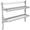 "26-7058-20 2 level fold-up shelving unit, 77""Wide x 18""Deep x 58""High"