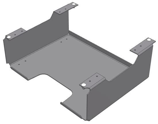 30-CCH-SB Under shelf carry case holder bracket