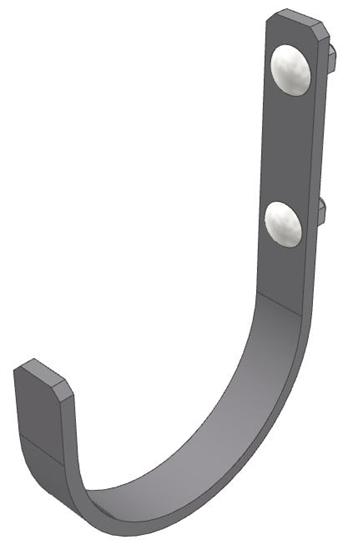 """30-HK-FLG Fixed Large Hook (4"""" Opening)"""