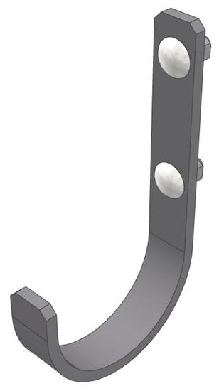 """30-HK-FMD Fixed Meduim Hook (3"""" Opening)"""
