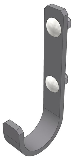 "30-HK-FSM Fixed Small Hook (2"" Opening)"