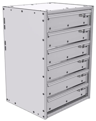 "16-1526-600 Tool drawer 18"" Wide X 15.5"" Deep X 25-11/16"" High with 6 drawers"