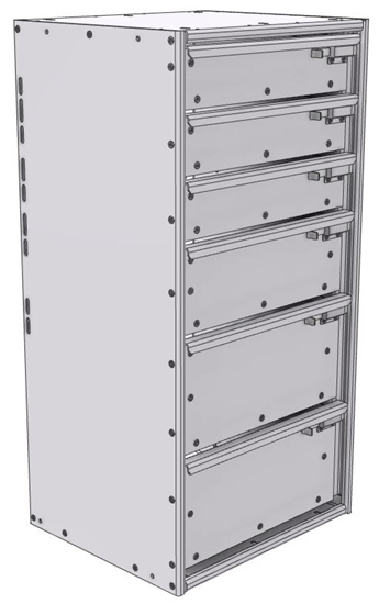 """16-1536-312 Tool drawer 18"""" Wide X 15.5"""" Deep X 35-11/16"""" High with 6 drawers"""