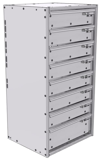 "16-1536-710 Tool drawer 18"" Wide X 15.5"" Deep X 35-11/16"" High with 8 drawers"