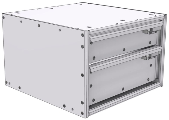 "16-1812-110 Tool drawer 18""Wide X 18.5""Deep X 11-11/16""High with 2 drawers"