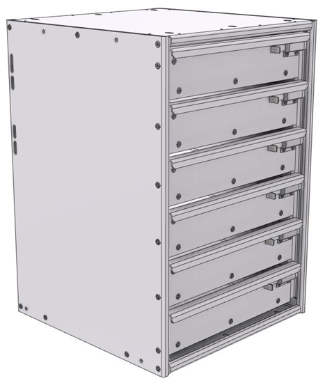 """16-1826-600 Tool drawer 18"""" Wide X 18.5"""" Deep X 25-11/16"""" High with 6 drawers"""