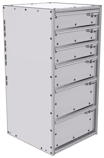 "16-1836-312 Tool drawer 18"" Wide X 18.5"" Deep X 35-11/16"" High with 6 drawers"