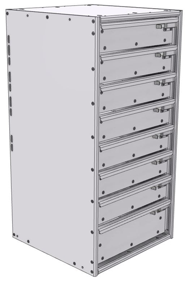 "16-1836-710 Tool drawer 18"" Wide X 18.5"" Deep X 35-11/16"" High with 8 drawers"