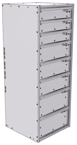 """16-1848-332 Tool drawer 18"""" Wide X 18.5"""" Deep X 47-11/16"""" High with 8 drawers"""
